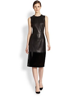 Bottega Veneta - Glossy Leather Dress
