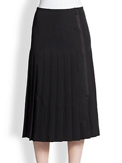 Bottega Veneta - Pleated Wool Wrap Skirt