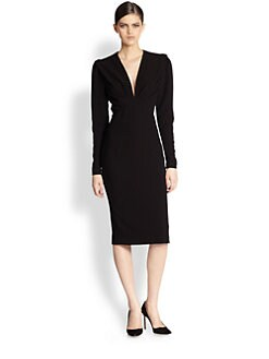 Bottega Veneta - Deep V Crepe Dress