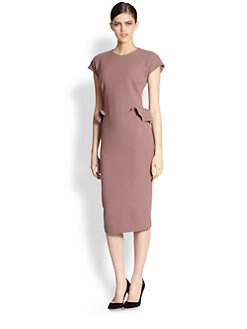 Bottega Veneta - Ruffled Wool Crepe Dress
