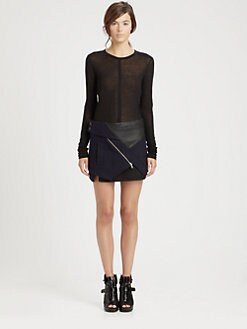 Proenza Schouler - Sheer Jersey Top