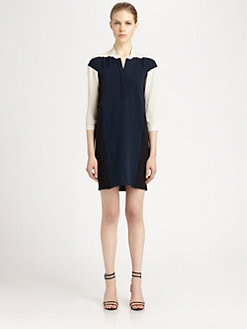 Ohne Titel - Silk Colorblock Dress
