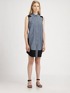 Proenza Schouler - Paneled Shirtdress