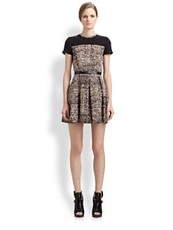Proenza Schouler - Belted Tweed Dress