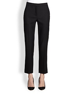The Row - Cropped Stretch Wool-Blend Pants