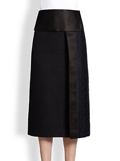 The Row - Paneled Jacquard Skirt