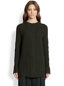 The Row - Tesia Cable-Knit Merino Wool & Cashmere Sweater