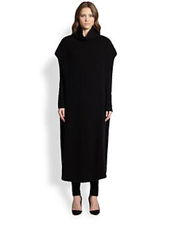The Row - Bharti Cashmere & Silk Ribbed Sweater Dress