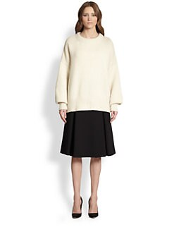 The Row - Miade Stretch Crepe A-Line Skirt