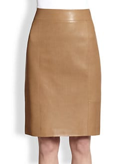 The Row - Fantina Leather Pencil Skirt