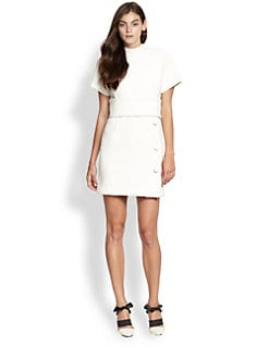 Proenza Schouler - Boucle Stand-Collar Dress