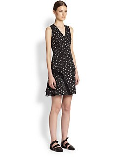 Proenza Schouler - Silk Georgette Dot-Print Dress
