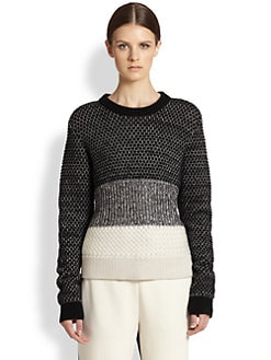 Proenza Schouler - Wool, Cashmere & Silk Colorblock Sweater