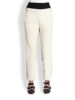 Proenza Schouler - Colorblock Stretch Wool Ankle Pants