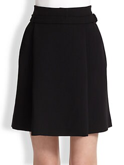 Proenza Schouler - Belted Stretch Wool Skirt