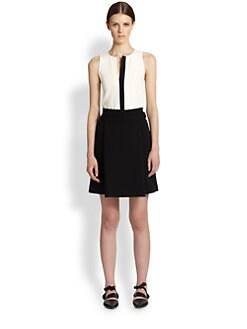 Proenza Schouler - Placket-Detailed Crepe Top