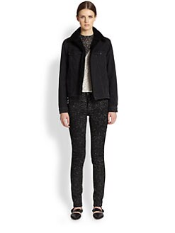 Proenza Schouler - Shearling-Trimmed Denim Jacket