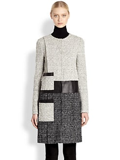 Proenza Schouler - Tweed Collarless Coat