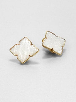 Stephen Dweck - Mother-of-Pearl Etched Earrings