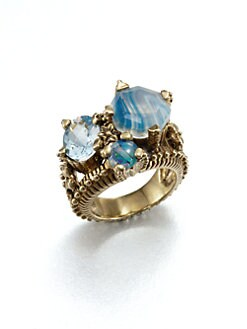 Stephen Dweck - Semi-Precious Multi-Stone & Bronze Ring