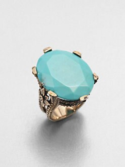 Stephen Dweck - Turquoise Floral Ring