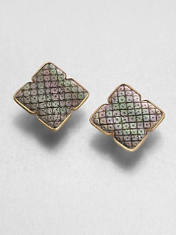 Stephen Dweck - Grey Mother-Of-Pearl Clip-On Earrings