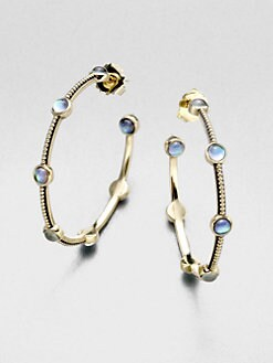 Stephen Dweck - Textured Mother-of-Pearl Hoop Earrings/2