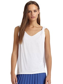 Cut 25 by Yigal Azrouel - Draped Jersey Tank Top