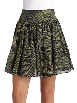 Cut 25 by Yigal Azrouel - Cotton & Silk Printed Skirt