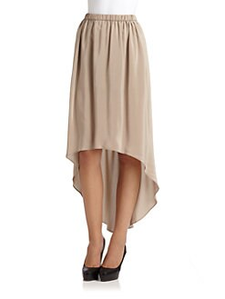Cut 25 by Yigal Azrouel - Silk Hi-Lo Skirt