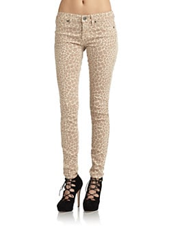 Rich and Skinny - Giraffe Print Skinny Jeans/Sand