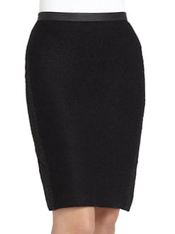 W118 by Walter Baker - Rachel Crocodile-Embossed Pencil Skirt