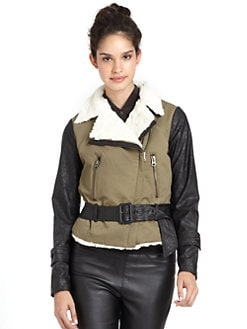 W118 by Walter Baker - Yasmin Cotton Moto Jacket