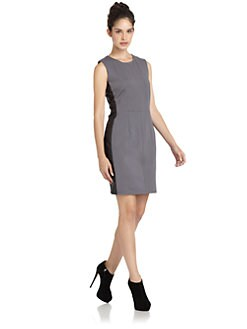 W118 by Walter Baker - Maddie Faux Leather Panel Dress