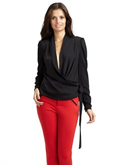 Catherine Malandrino - Wrap Blouse