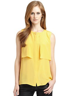 Tibi - Silk Tiered Blouse