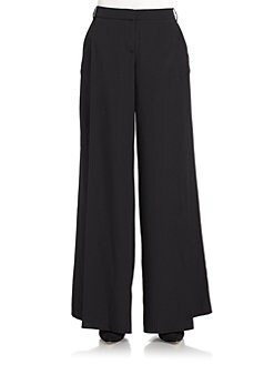 Tibi - Silk Wide Leg Trousers
