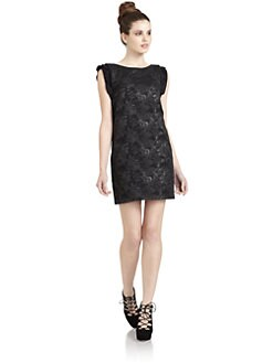 Hanii Y - Ruffled Jacquard Dress