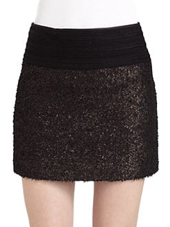 Hanii Y - Foiled Mini Skirt