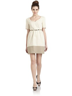 Hanii Y - Belted Short-Sleeve Dress