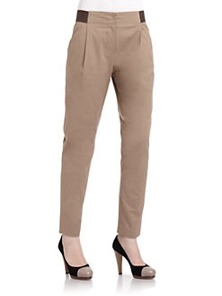 Hanii Y - Pleated Skinny Leg Pants