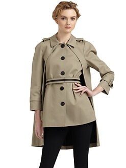 Under.Ligne by Doo.Ri - A-line Khaki Coat