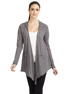 So Low - Asymmetrical Striped Cardigan