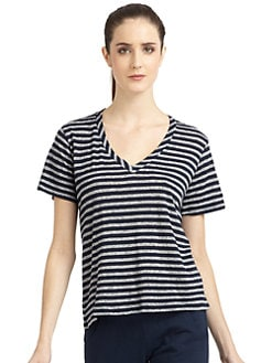 So Low - Striped V-Neck T-shirt