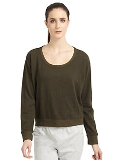 So Low - Cropped Dolman Sweatshirt/Spruce