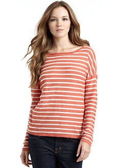 Vince - Linen Striped Top