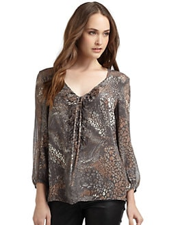 Oonagh by Nanette Lepore - Kent Animal Print Silk Blouse