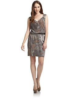 Oonagh by Nanette Lepore - Kurt Animal Print Silk Dress
