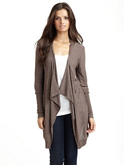 Kokun - Draped Open Cardigan
