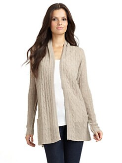 Kokun - Cashmere Cable Knit Cardigan